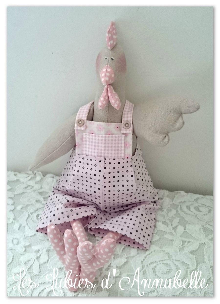 poule tilda style shabby pour p ques en lin et tissu tilda tildas id ias sewing toys sewing. Black Bedroom Furniture Sets. Home Design Ideas