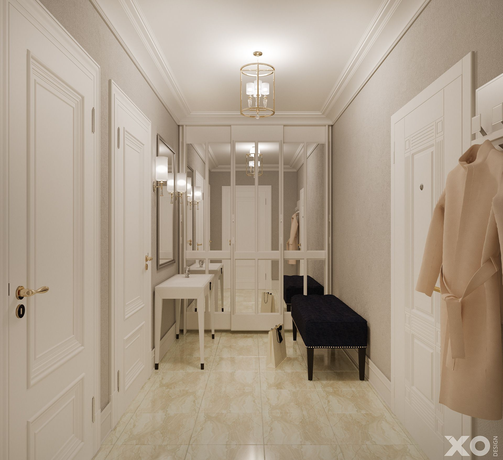 Neoclassical Interior In 43 M2 On Behance