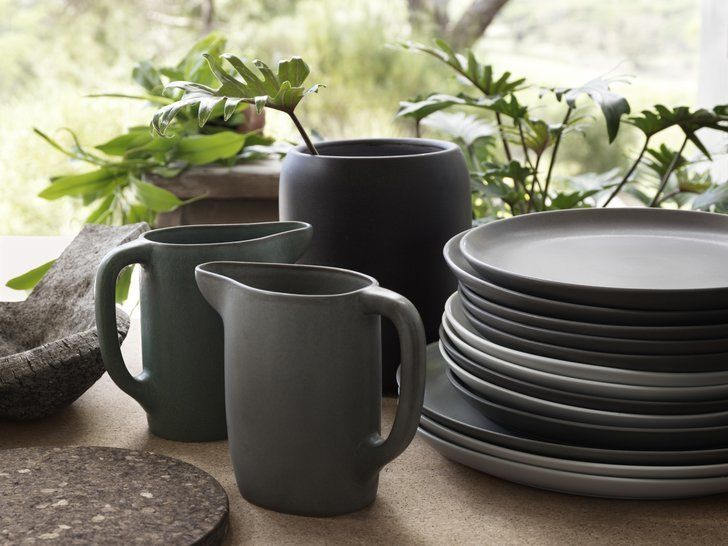 A closer look at the beautiful earthenware collection. | The Quality of Ikea's New Collection Will Blow You Away! | POPSUGAR Home
