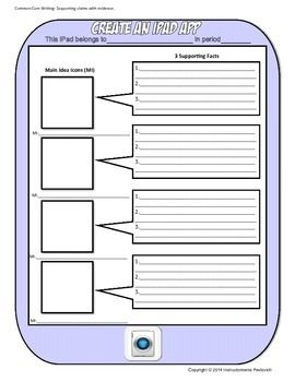 Ipad Graphic Organizer Template For Writing Reading Or History