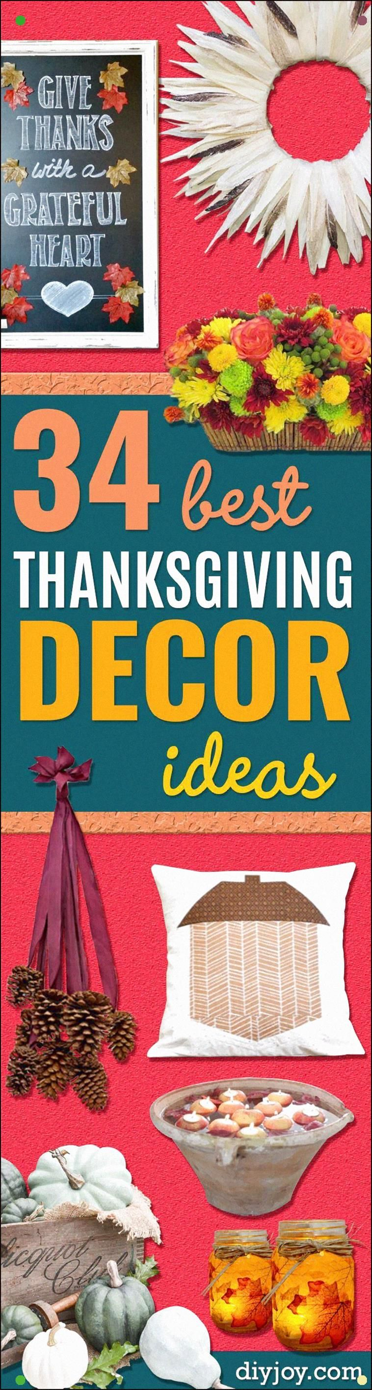 Diy Thanksgiving Decor Ideas – Fall Projects And Crafts For Thanksgiving Dinner …