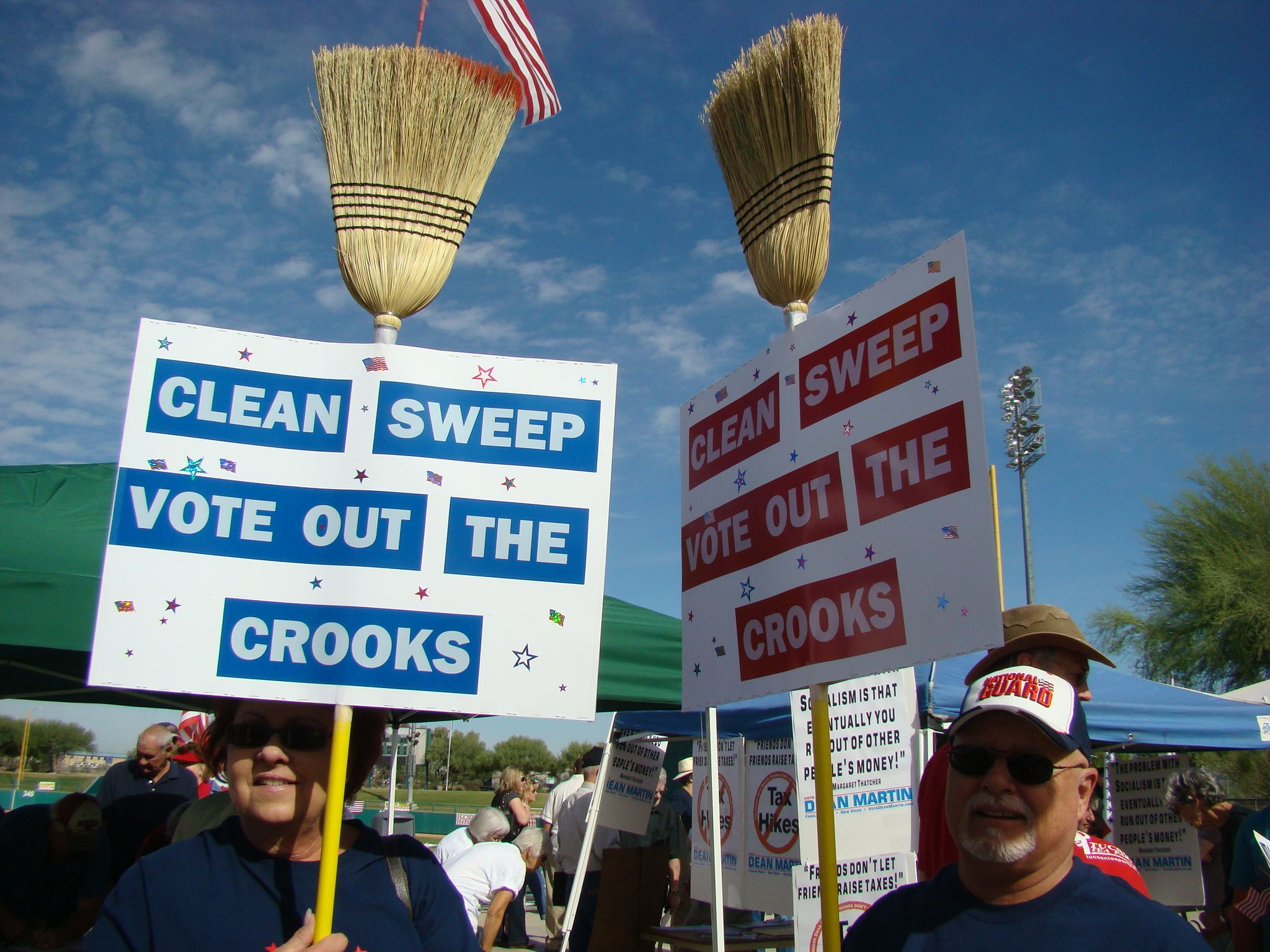 Tea Party Protesters | Clean sweep, Tea party, Cleaning