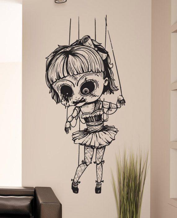 Creepy girl decal