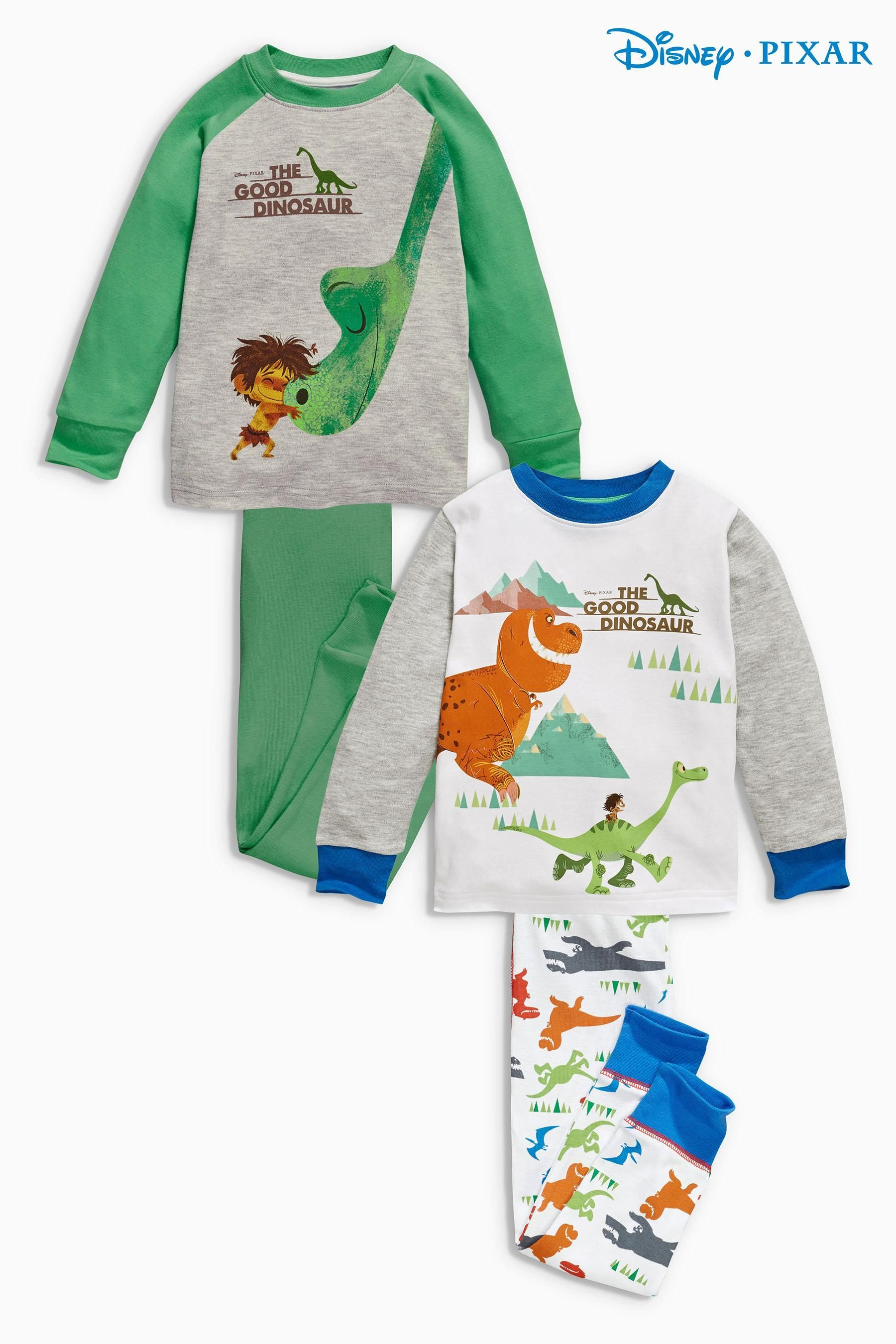 92dc14827d85 Buy Two Pack Good Dinosaur Snuggle Fit Pyjamas (9mths-6yrs) from the Next  UK online shop