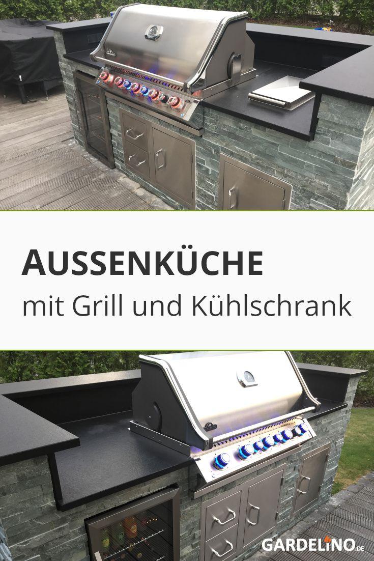 Aussenkuche Mit Grill Und Kuhlschrank In 2020 Inspiration Aussenkuche Grillen