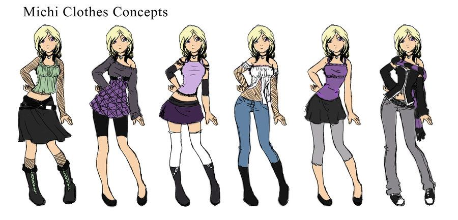 Anime Girl Clothes Designs Michi Clothes Designs By Katoons88 For Details Pinterest