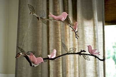 The Painted Hive: Bird and Twig Nursery Mobile Tutorial