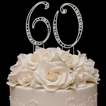 60th Wedding Anniversary Cake Toppers