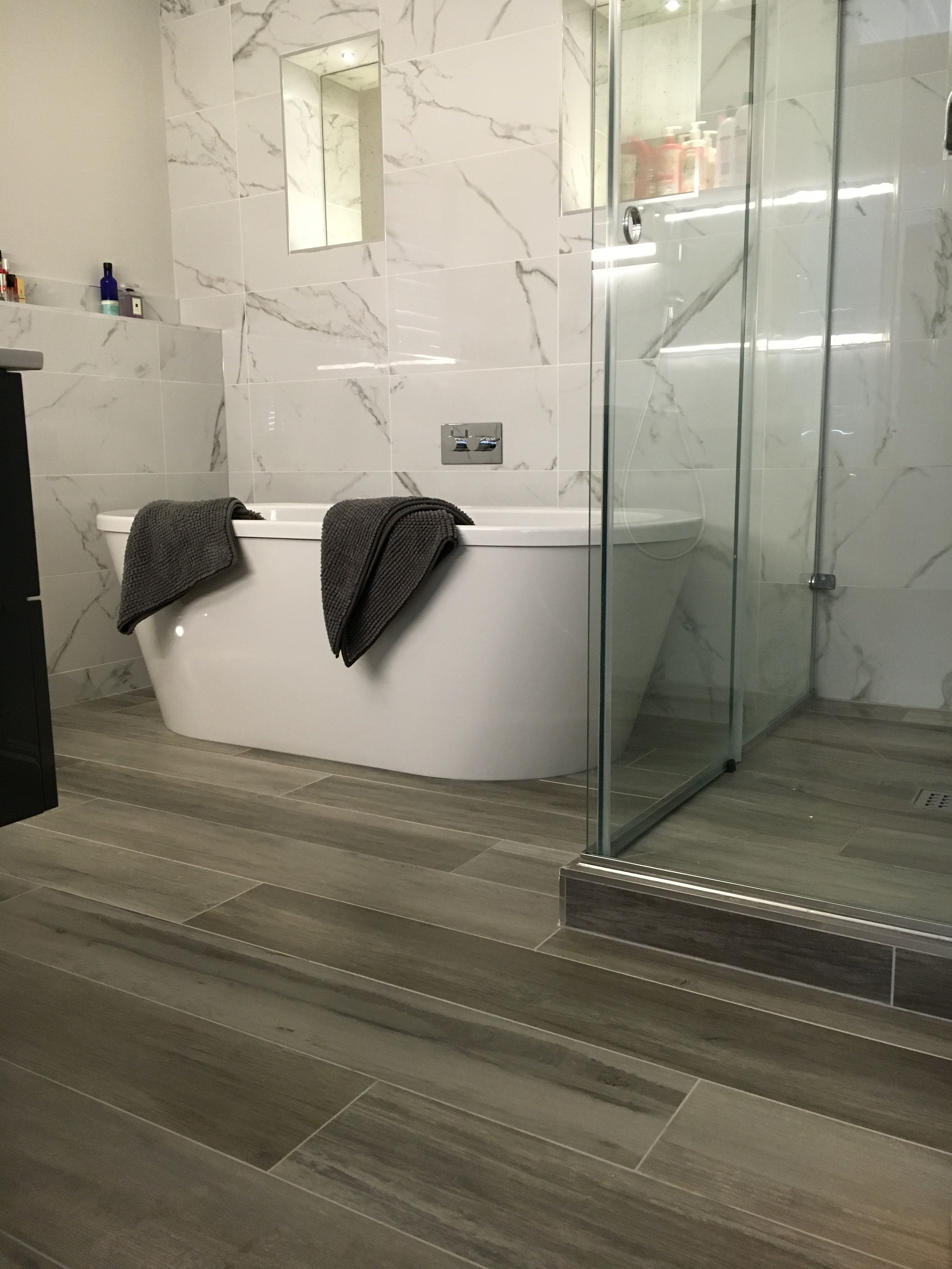 Great Tile Ideas For Small Bathrooms Grey Bathroom Floor Wood Tile Bathroom Grey Bathroom Tiles