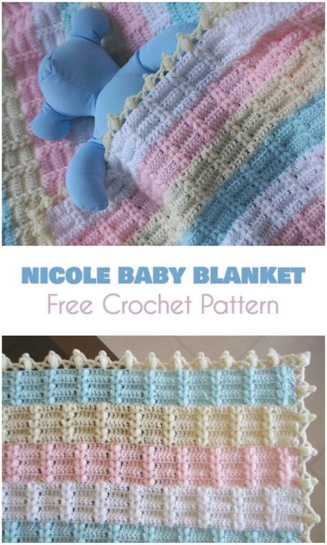 Nicole Baby Blanket [Free Crochet Pattern] Beautiful blanket or ...