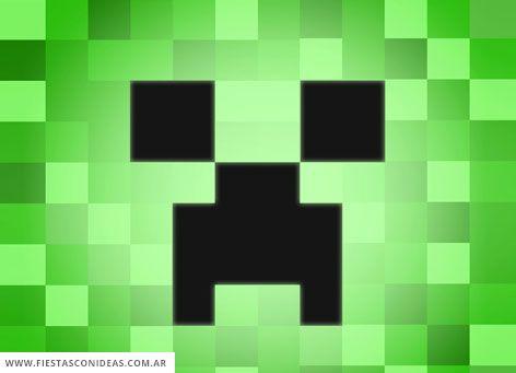 Invitacion De Minecraft Para Imprimir Gratis Mega Idea