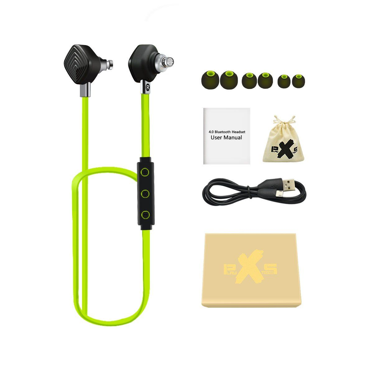 PLAY X STORE Bluetooth Sports Stereo Headphones With