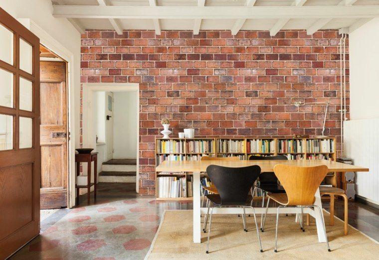 Papier Peint Brique Pour Un Salon De Style Industriel Murs
