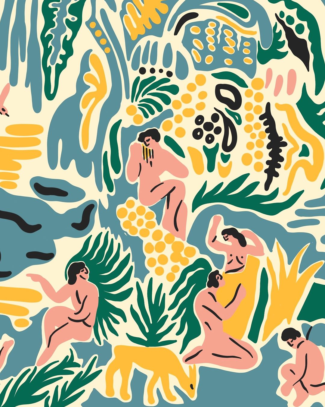 12 plants Illustration pattern ideas