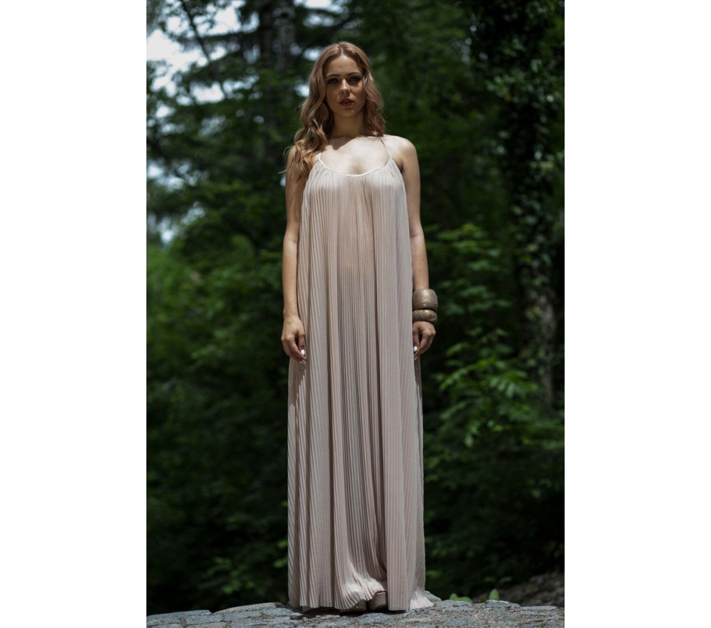 Blush wedding light pink bridesmaid dress long bridesmaid dress