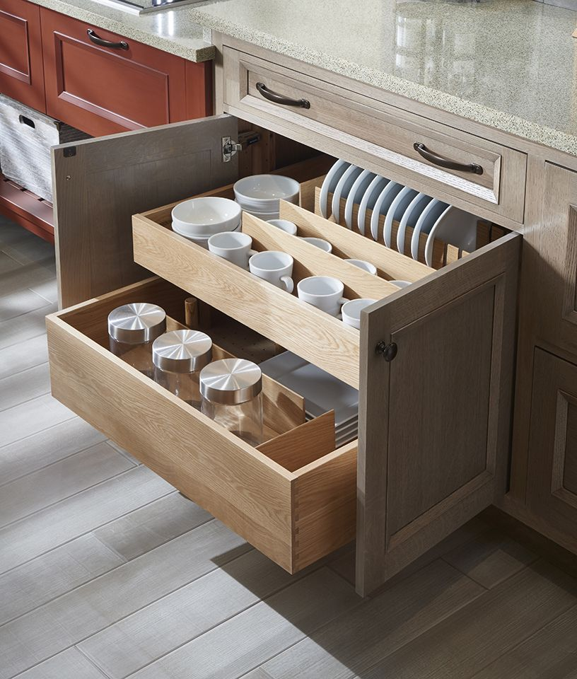 Divided Interior Drawers Wood Mode Fine Custom Cabinetry