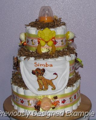 Lion King Diaper Cake 2 Jpg Simba