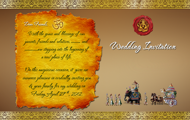 Download Indian Hindu Wedding Card Design Psd File At Download Free