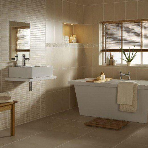 Bathroom With Matching Wall And Floor Tiles