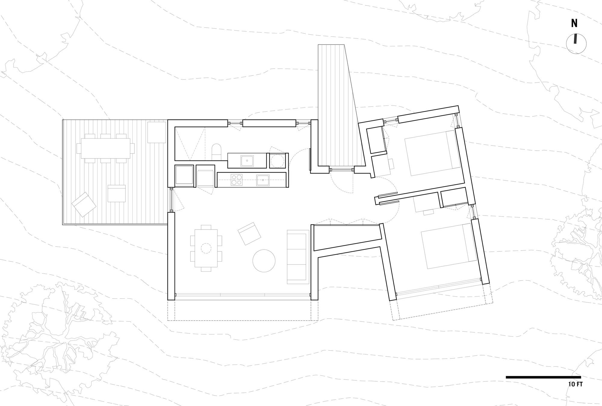 Contemplative Cliffhanger Minimal Canadian Cabin Takes Your Breath Away How To Plan Modern Cabin Floor Plans