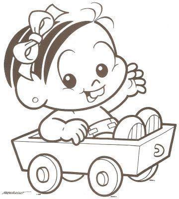 Mônica Baby   pintura em tecido   Pinterest   Babies clothes, Hello ...