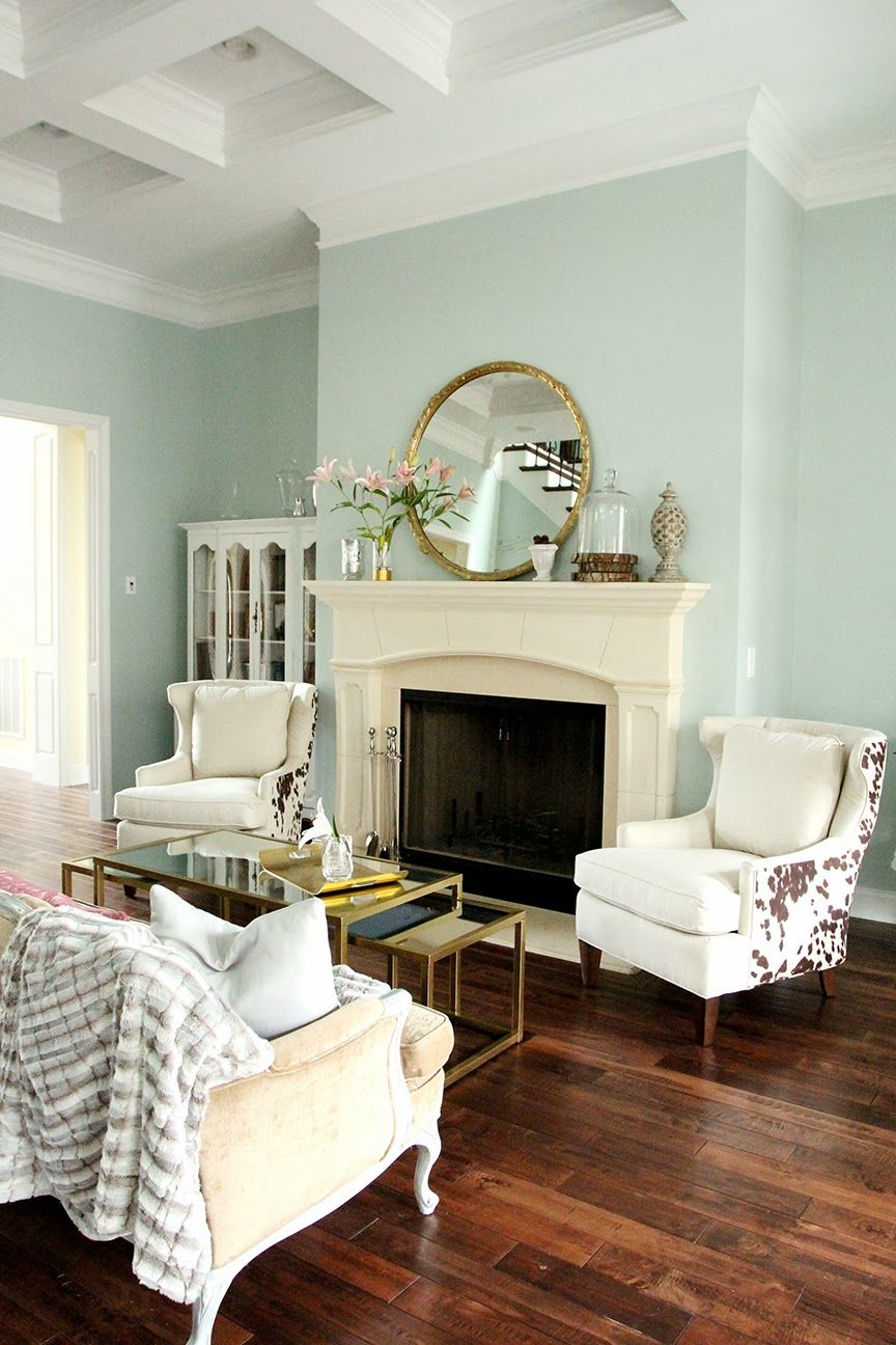 Less-Than-Perfect Life of Bliss: Moo-La-La: Changes in the Piano Room - paint Sherwin Williams Rainwashed