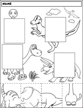 dinosaur color and match group 2 all subjects and grades tpt dinosaur coloring toddler. Black Bedroom Furniture Sets. Home Design Ideas