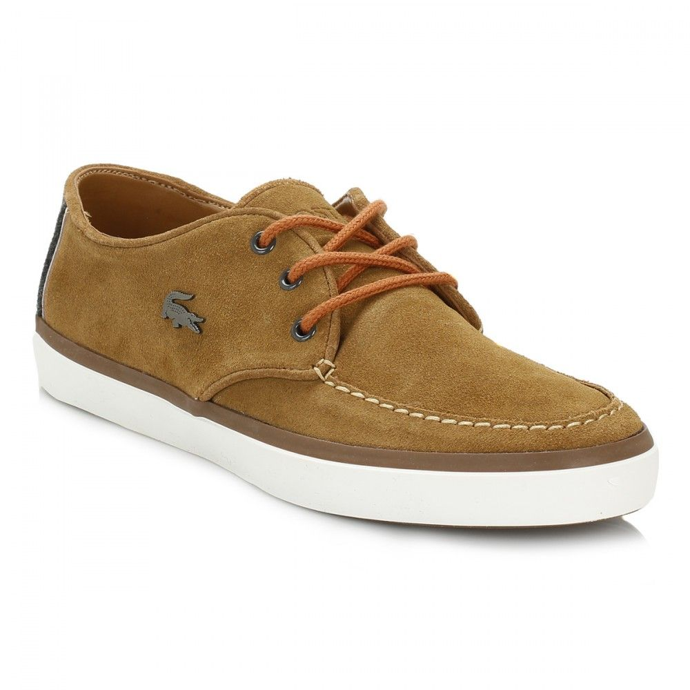 Lacoste Mens Tan Sevrin 2 LCR Suede Shoes