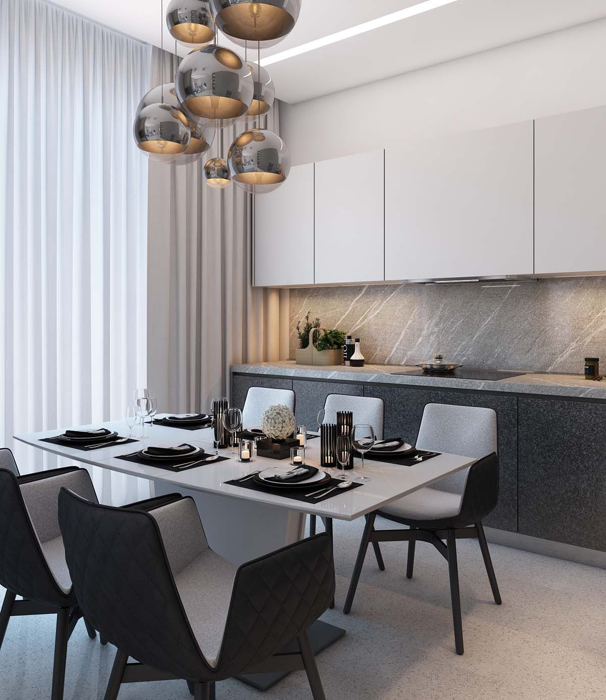 Simple Dining Room Design: A Simple, Modern Apartment In Moscow