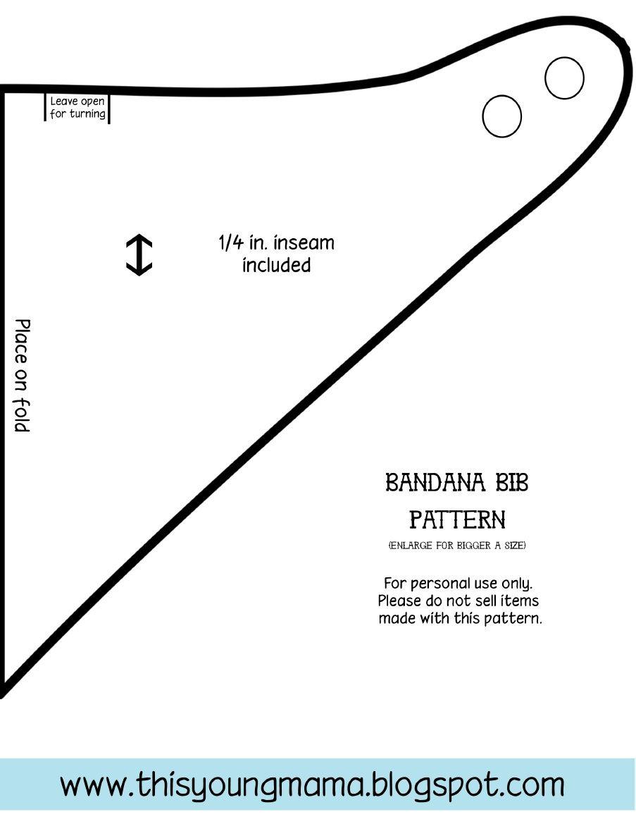 Bandana Bib Pattern | Reighlynn | Pinterest | Nähen, Babys und Nähen ...