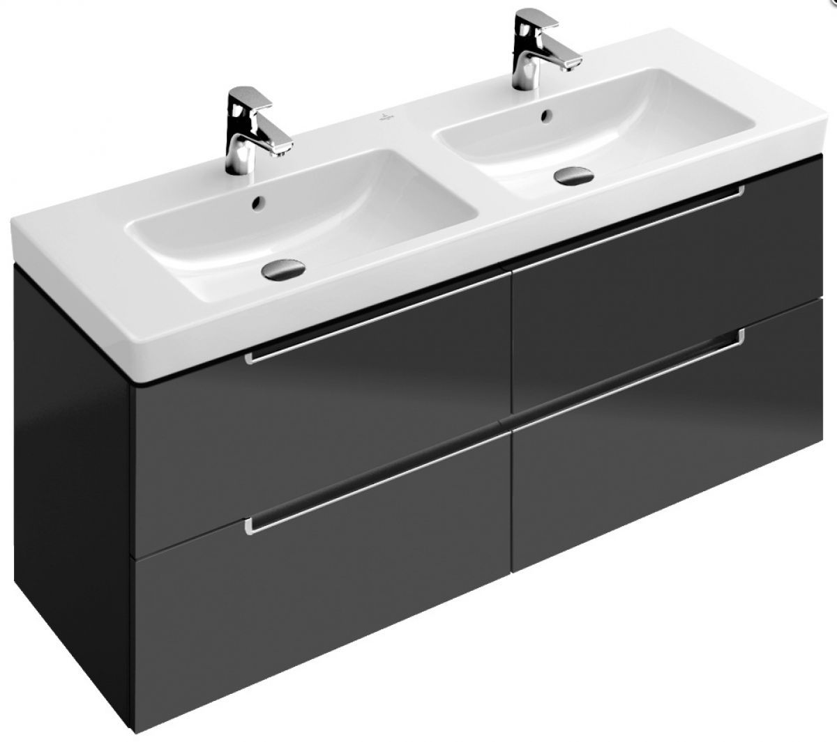 Glas Waschbecken Villeroy & Boch Villeroy And Boch Subway 2 Double Washbasin Vanity Unit