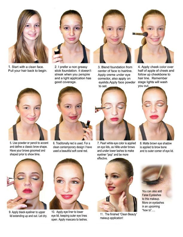 How To Do Classic Clean Beauty Stage Makeup Lane Cove Dance
