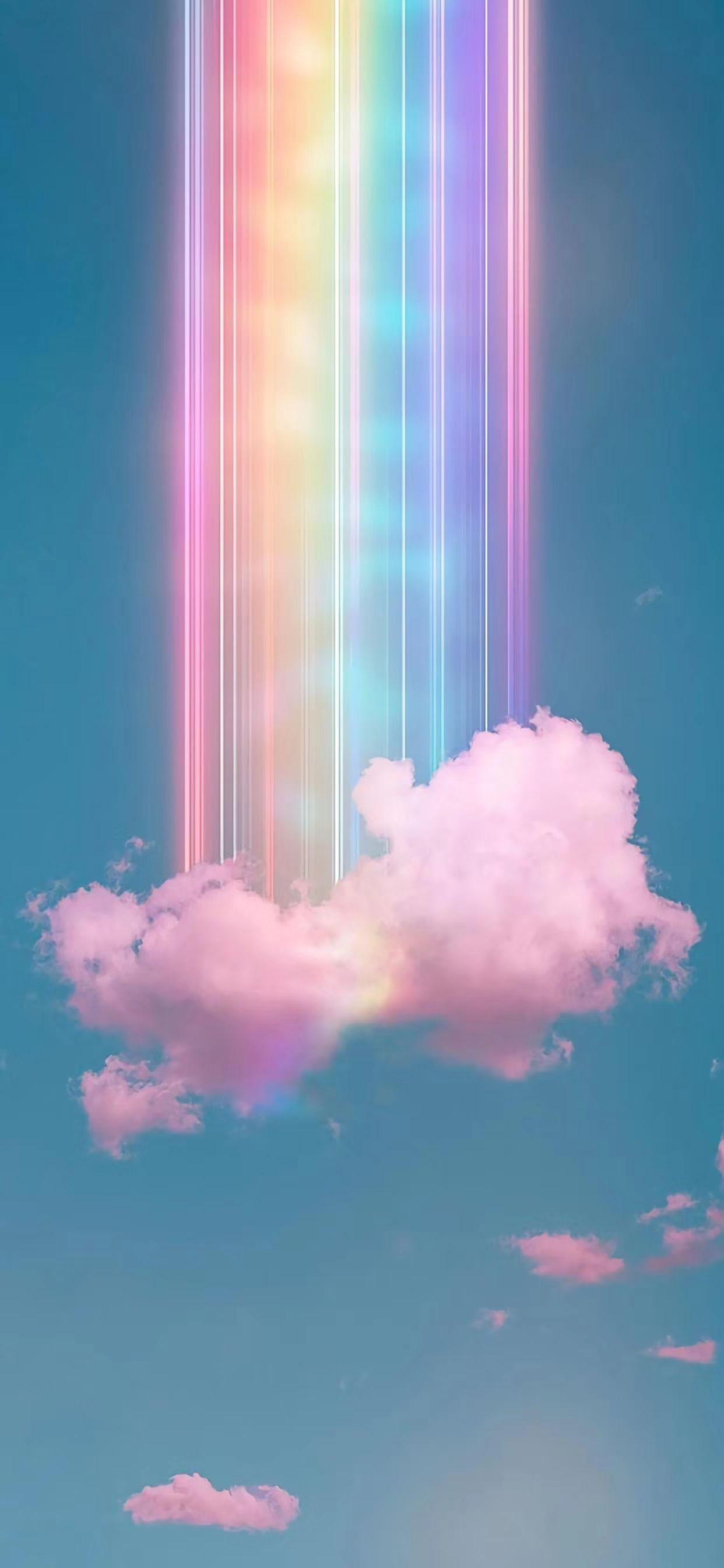 Cloud Rainbow Wallpaper Rainbow Wallpaper Iphone Pretty Wallpapers Backgrounds Rainbow Wallpaper