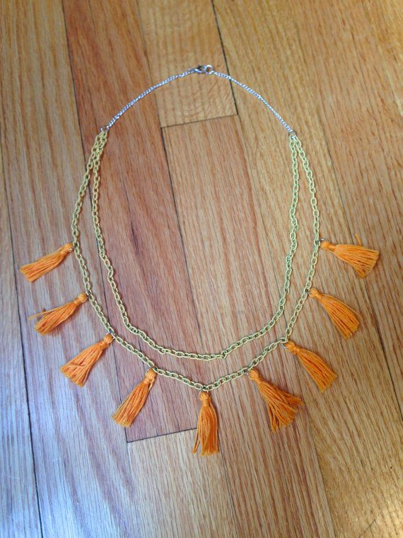 Multi Layered Double Tassel Necklace by PCoqPlayhouse on