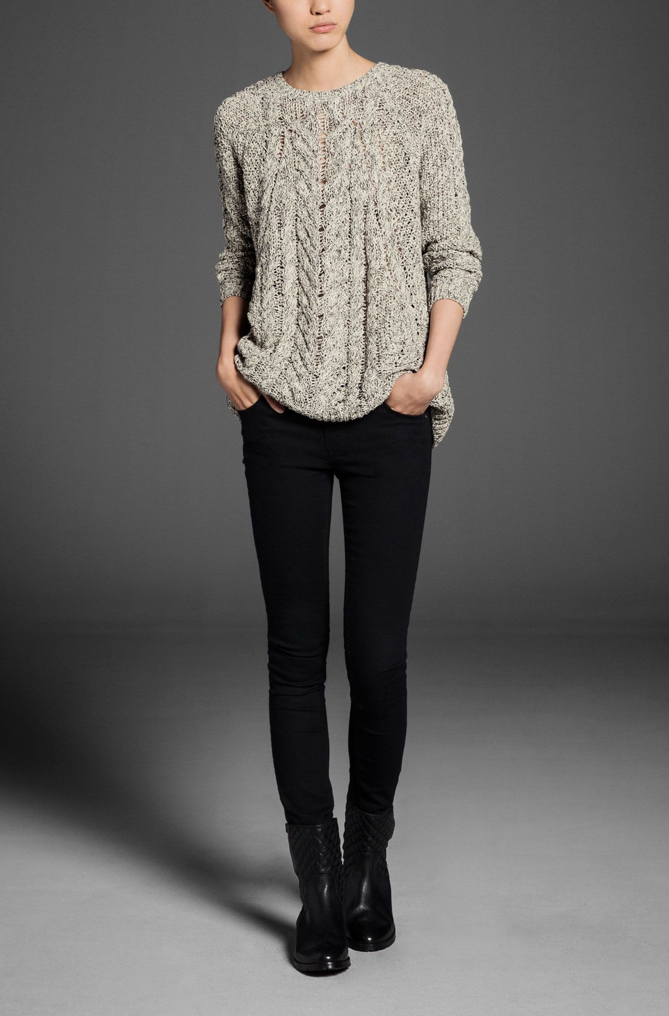 FANTASY TWISTED YARN SWEATER - View all - Sweaters & Cardigans - WOMEN - Portugal