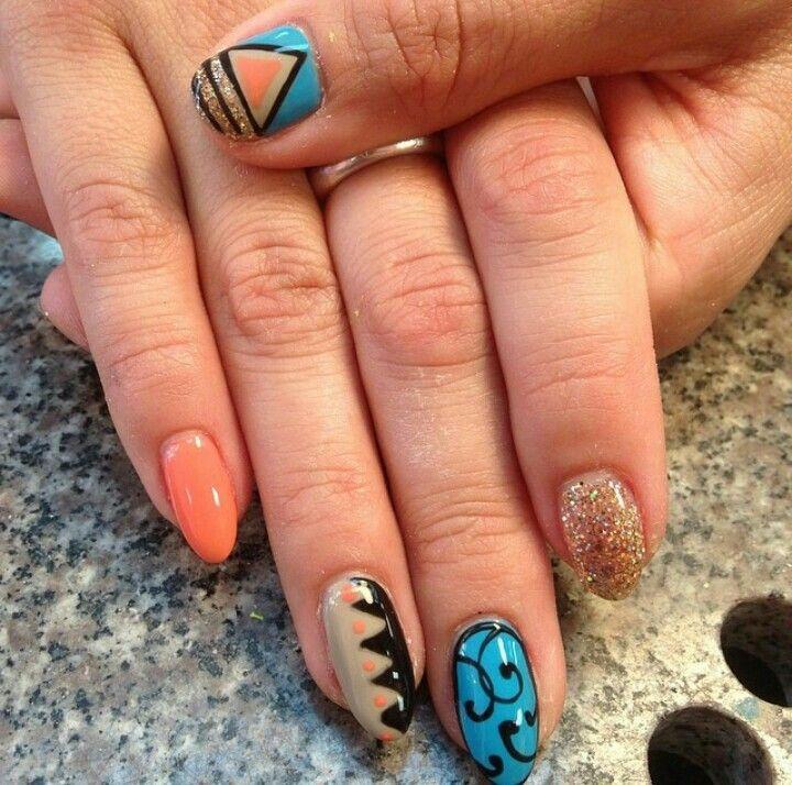 A Funky Nail Design Nails Pinterest Funky Nail Designs