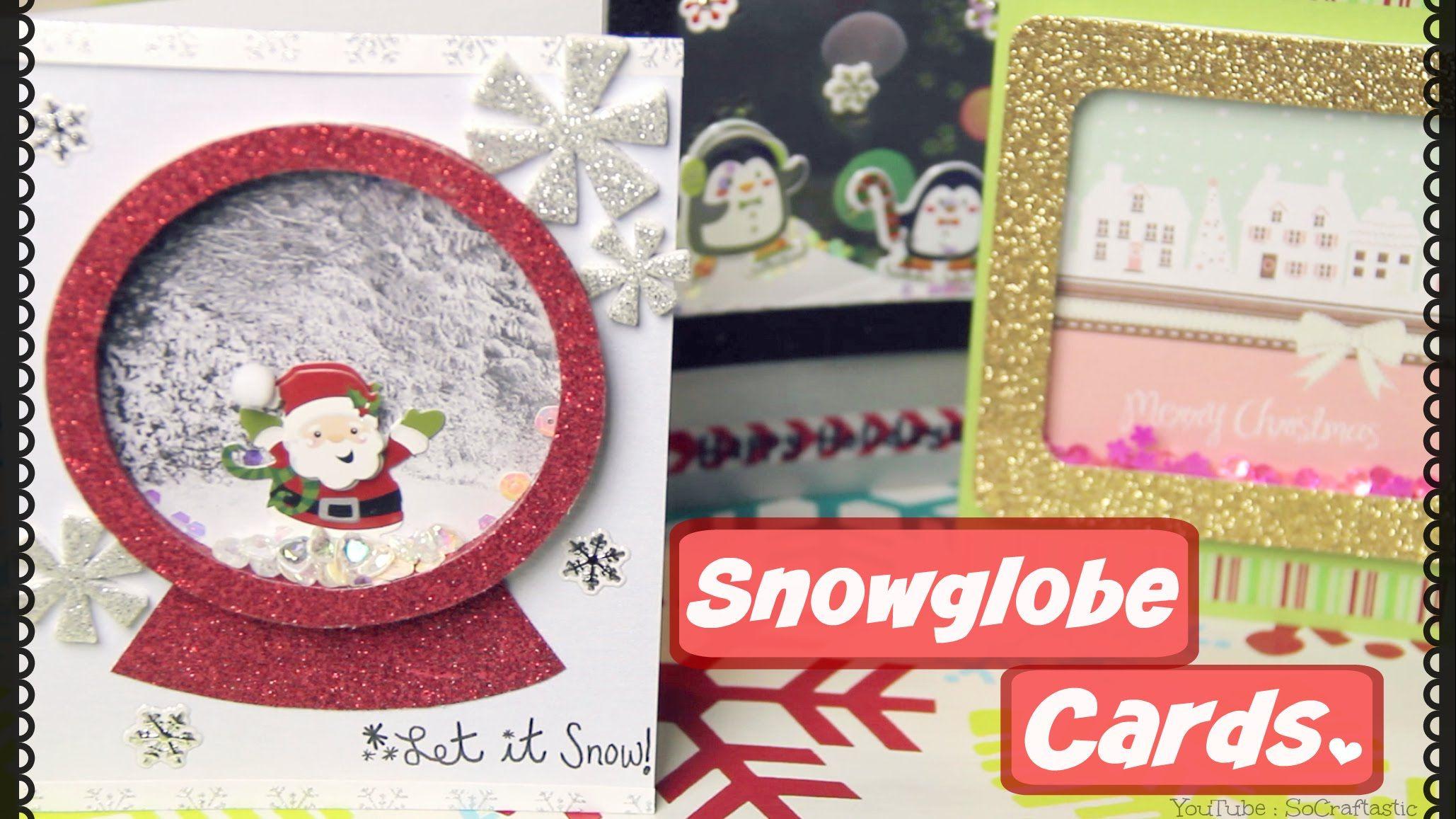 DIY SNOWGLOBE CARD // Shaker Cards for Christmas, Holidays