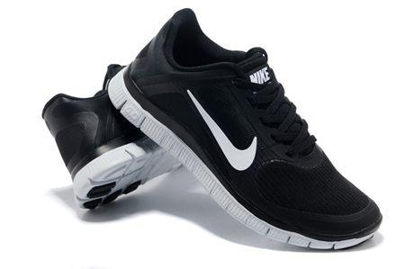 Nike Men Free 4 0 V3 Black White Running Shoes Mens Nike Shoes Nike Free Running Shoes For Men