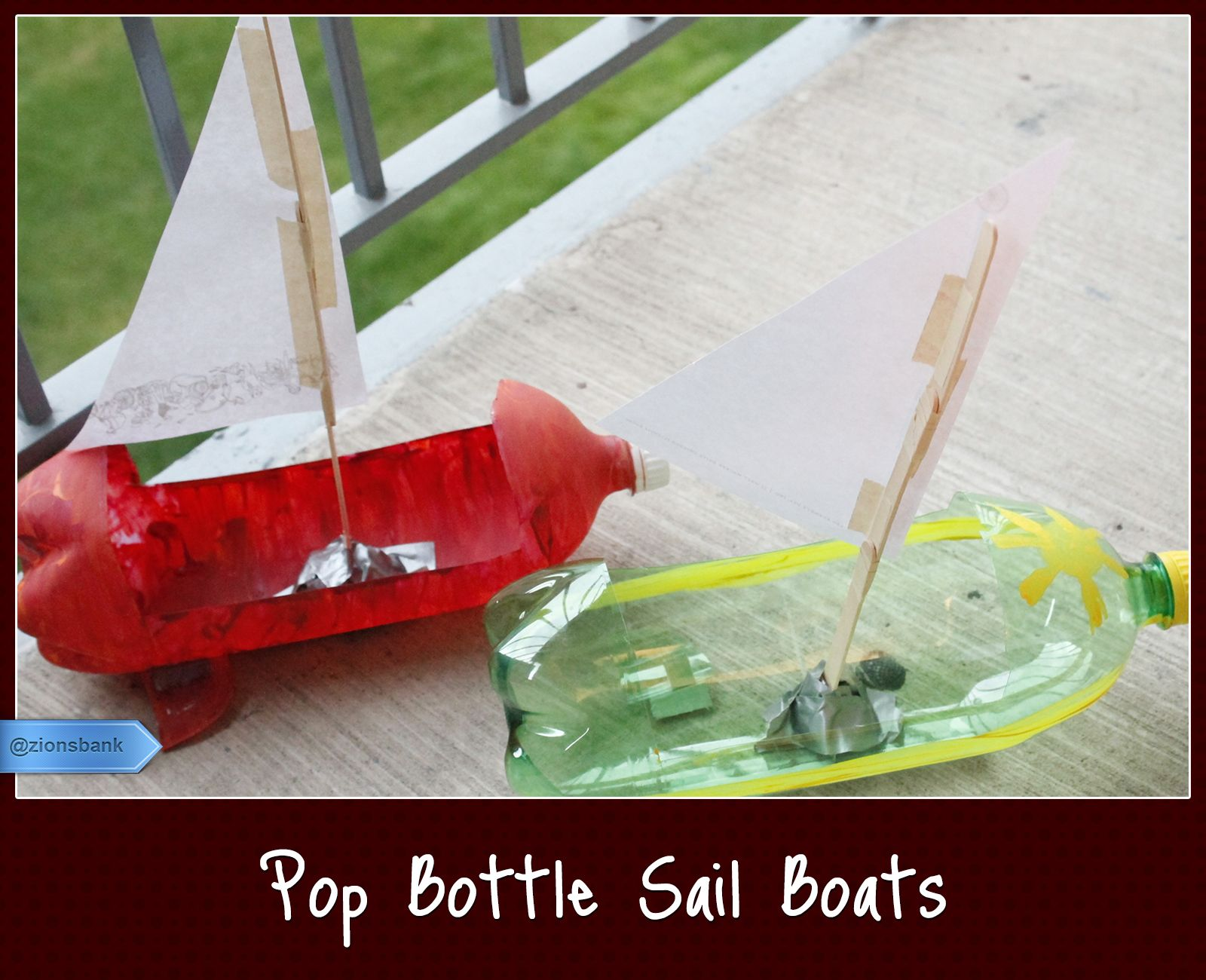 Use rubber band rotar in these take them down to pond for What to make out of water bottles
