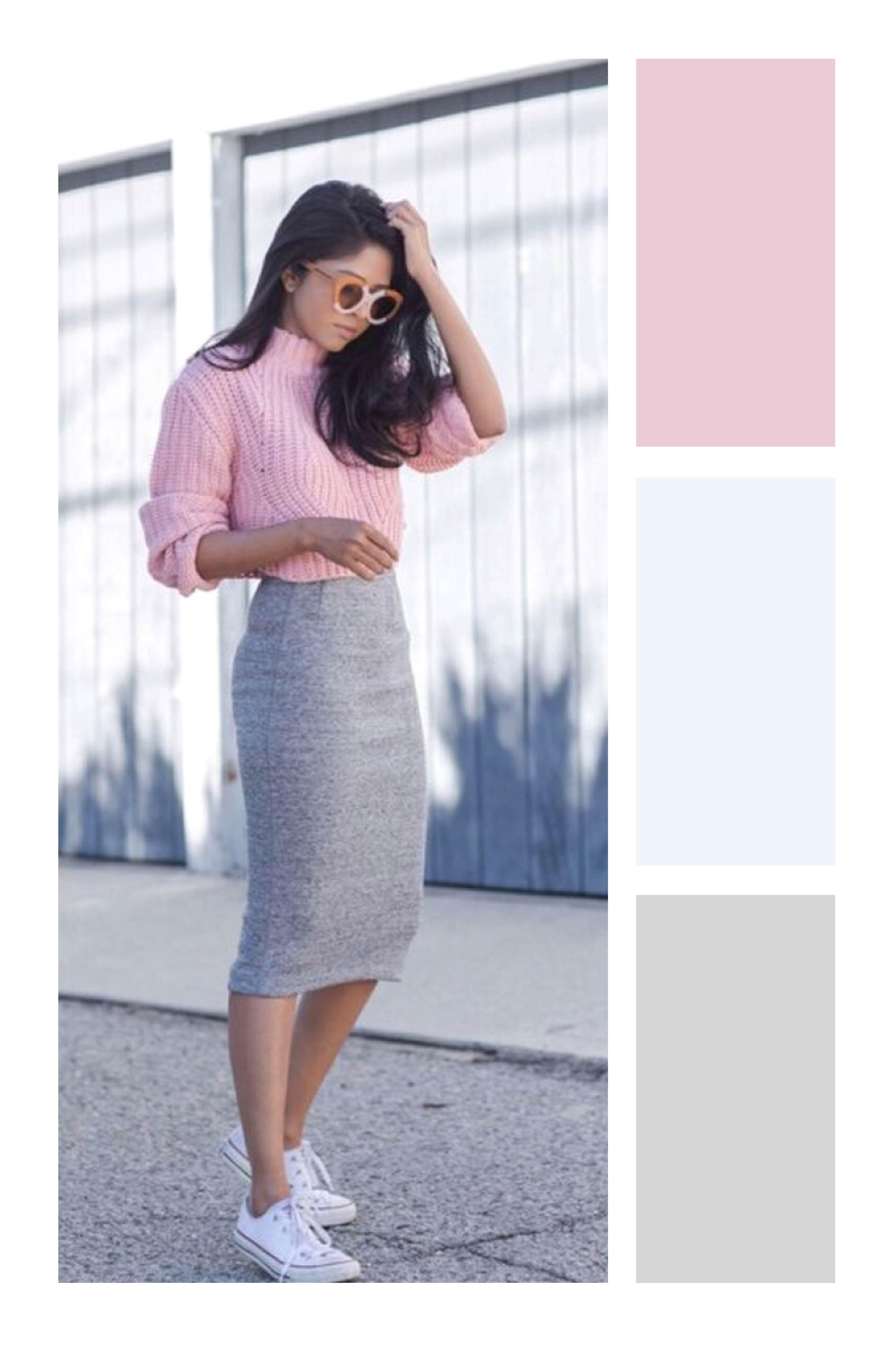 Aprende A Combinar Tus Prendas Favoritas De Color Gris Tizkka Combinar Falda Gris Ropa Ropa De Moda