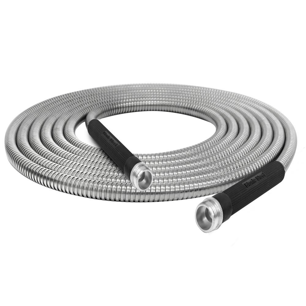 Bionic Steel 1 2 In Dia X 50 Ft Heavy Duty Stainless Steel Garden Hose In 2020 Garden Hose Stainless Steel Hose Metal Garden Hose