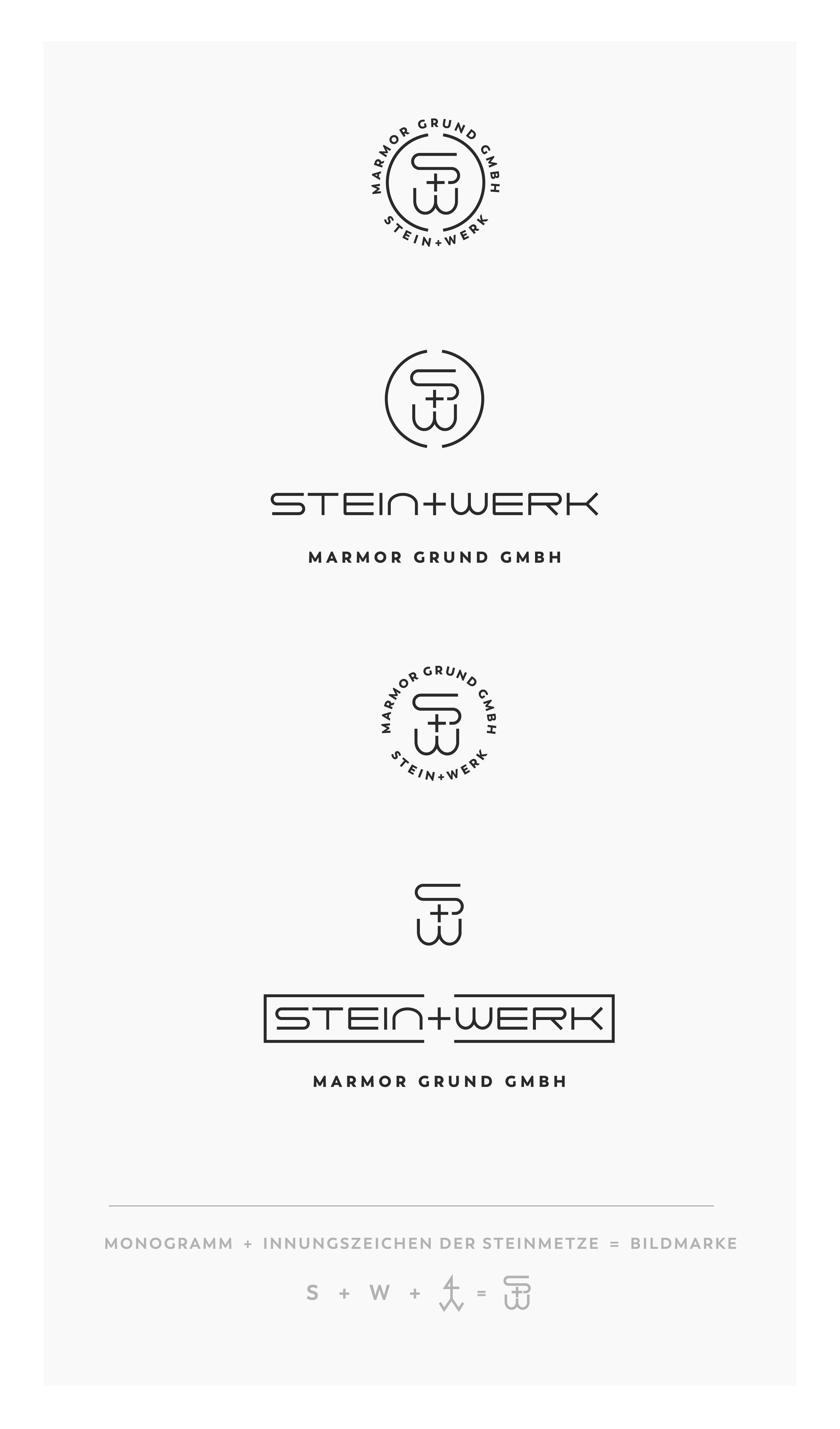Neue Woche Neue Projekte Redesign Der Wort Bild Marke In Zwei Variationen Stein Werk Mamorgrund Kampagne Meisterwerk Social Media Agentur Neue