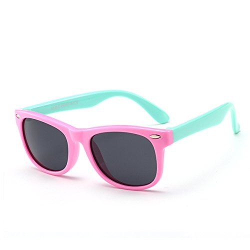 dd7fbecd5c9c5 Juslink Toddler Sunglasses 100% UV Proof Baby Sunglasses for Kids (Pink)