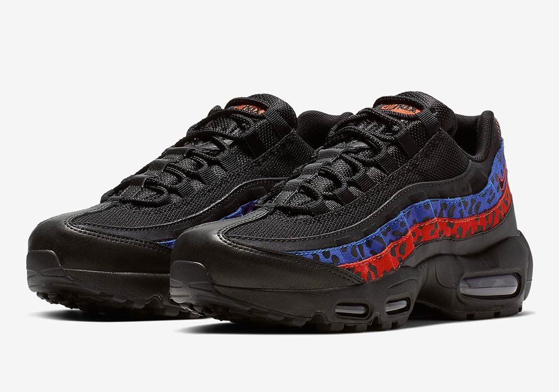 Nike Air Max 95 Leopard Black Blue Red Release Info