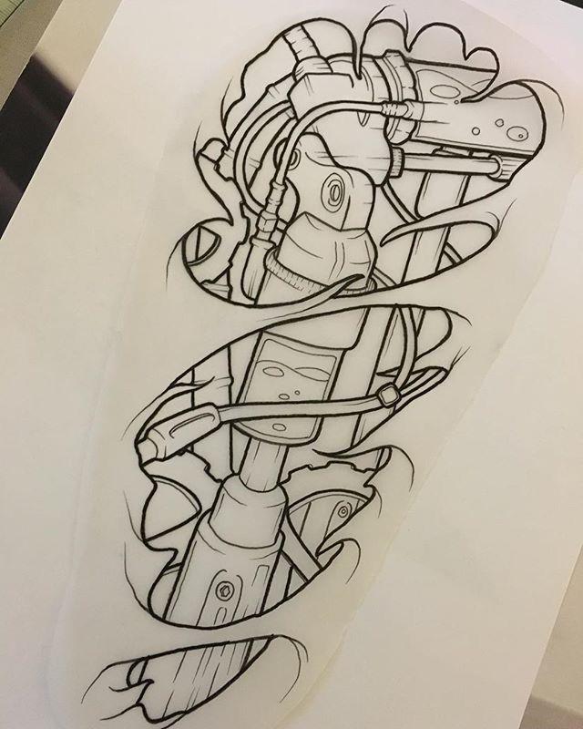 Tattoo Biomechanical Tattoo Design Biomechanical Tattoo Tattoo Stencils