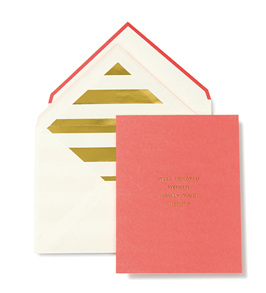 Kate Spade Make History Card