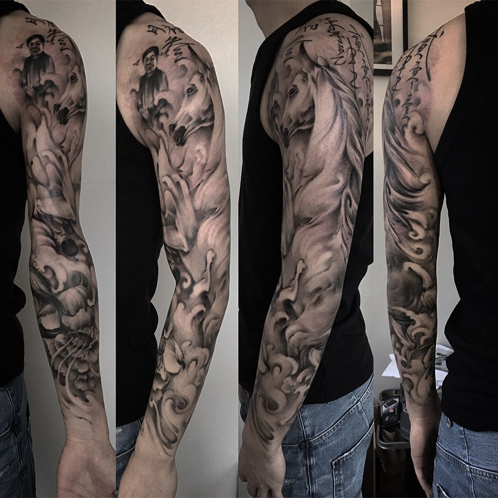 Full sleeve realism maxima dreamhands tattoos sleeve