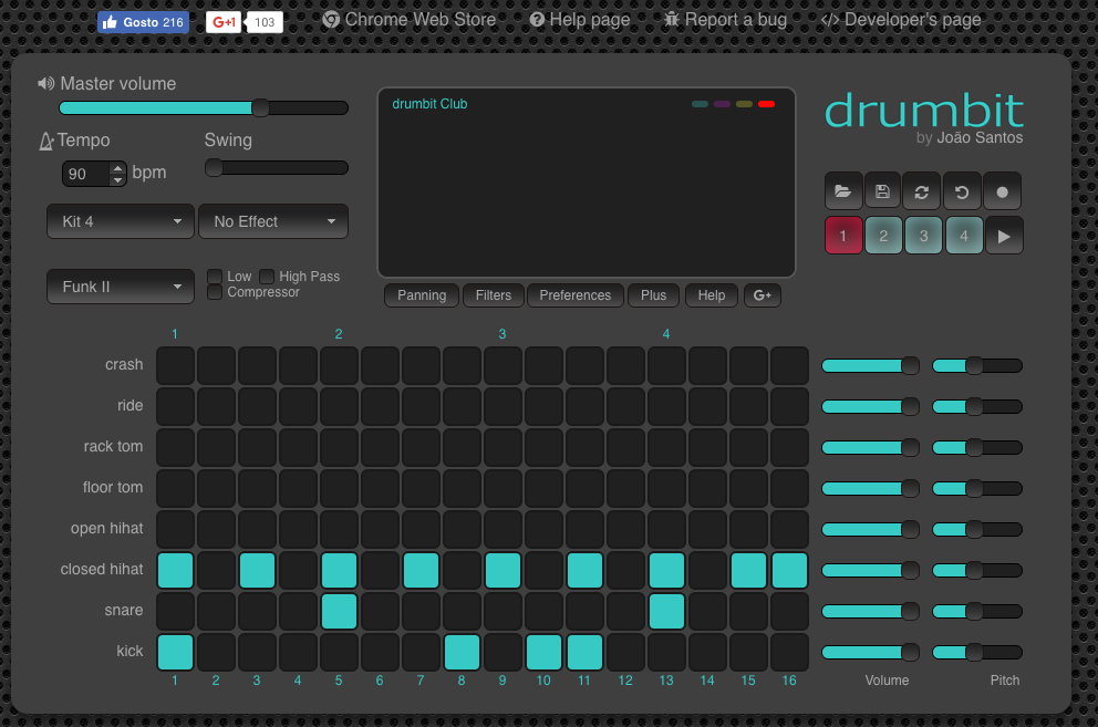 drumbit is an online drum machine that works without a log in. Using ...