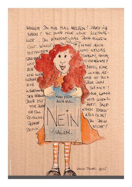 """""""Nein""""+sagen+-+Digitalprint+A4+von+Zebrafisch+-+Karin+Tauer+-+Fun+Arts+auf+DaWanda.com"""