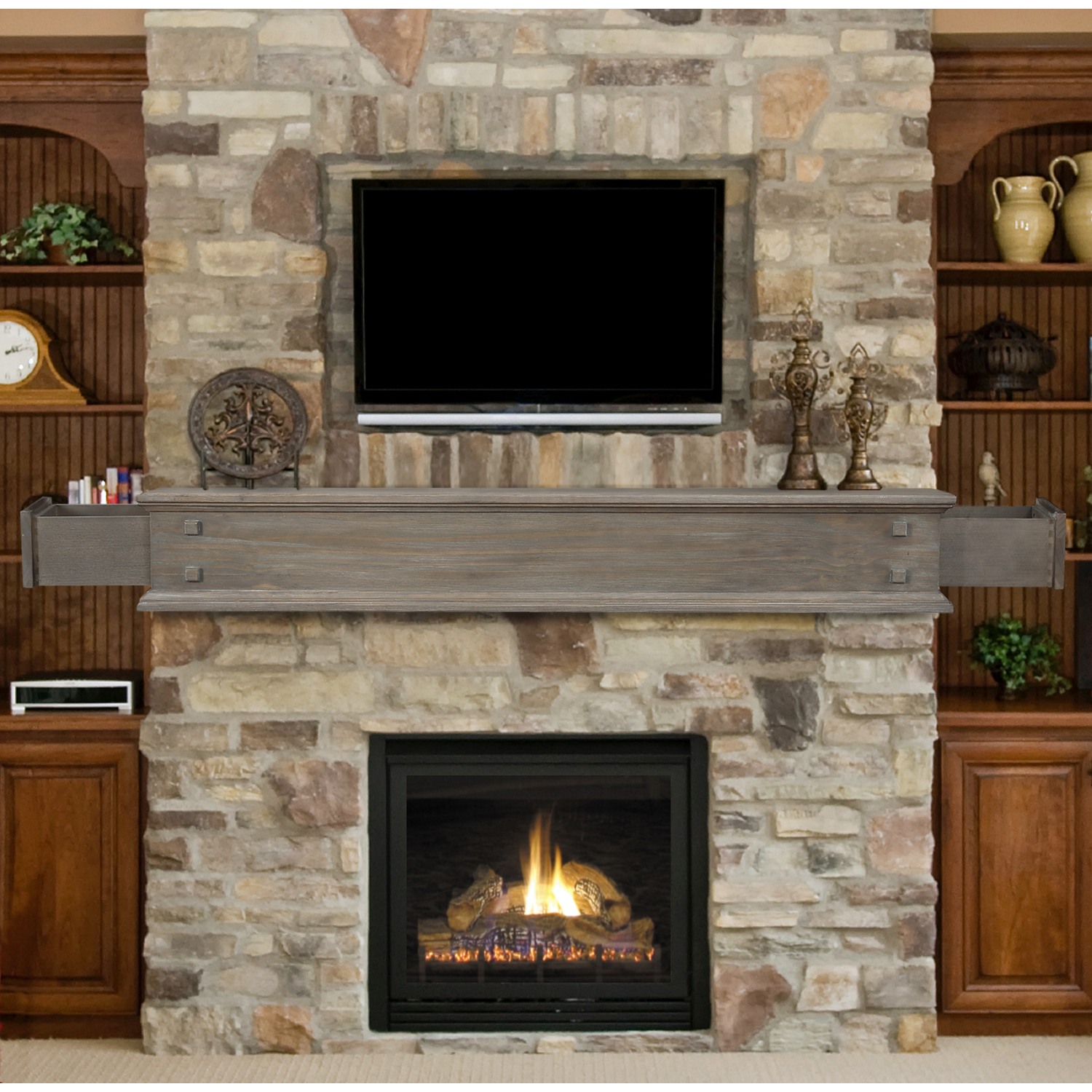 Floating Fireplace Mantel Ideas Pearl Mantels The Jackson 48